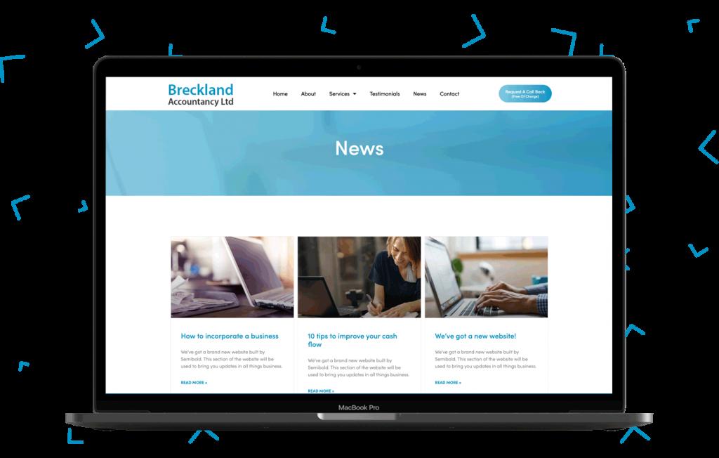 Breckland Accountancy Ltd Website